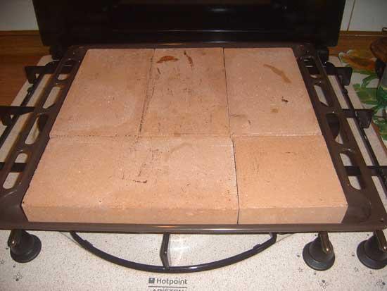 Pizza su mattoni refrattari for Forno a legna in mattoni refrattari